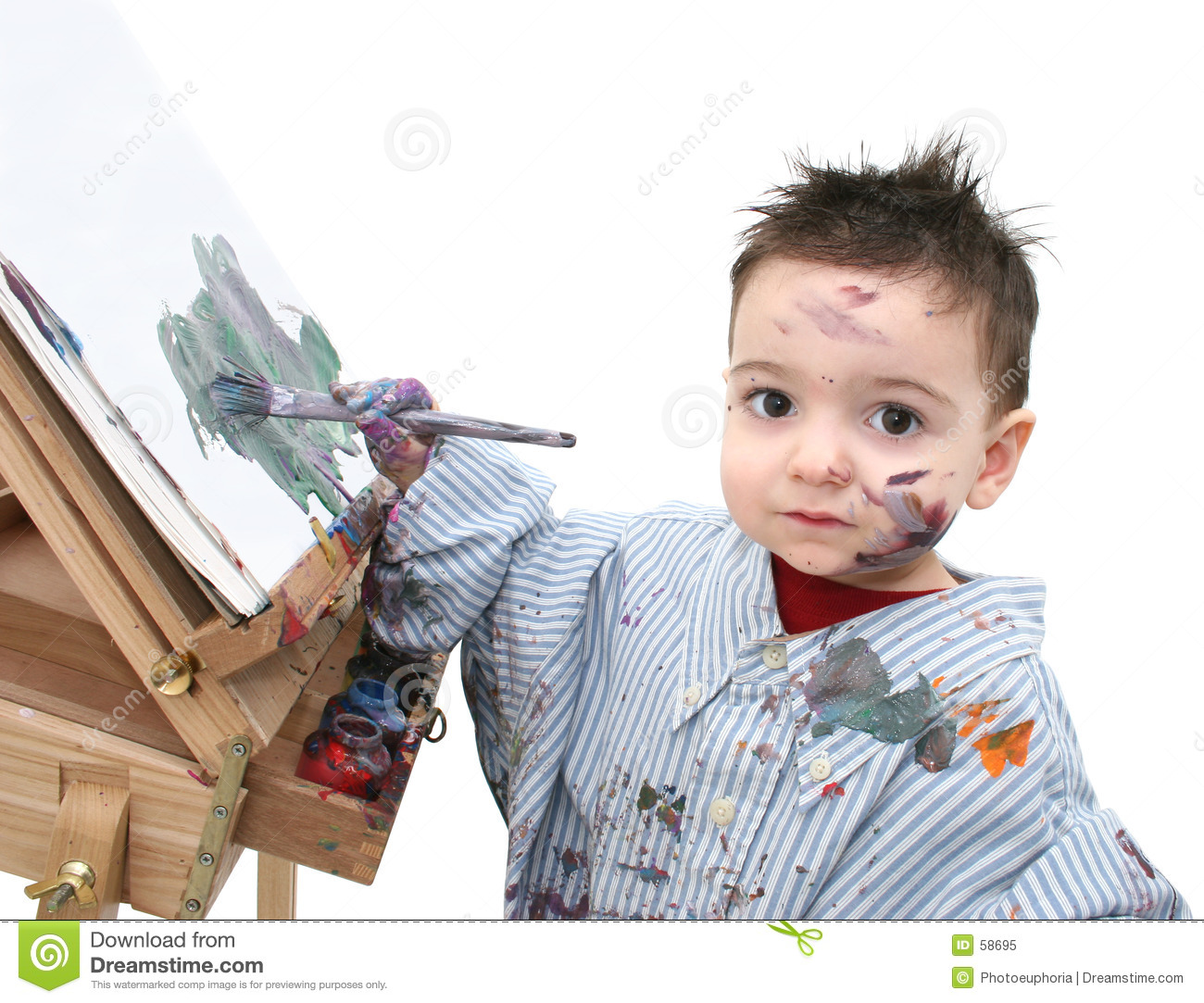 boy child painting 04 royalty free stock photo image 58695
