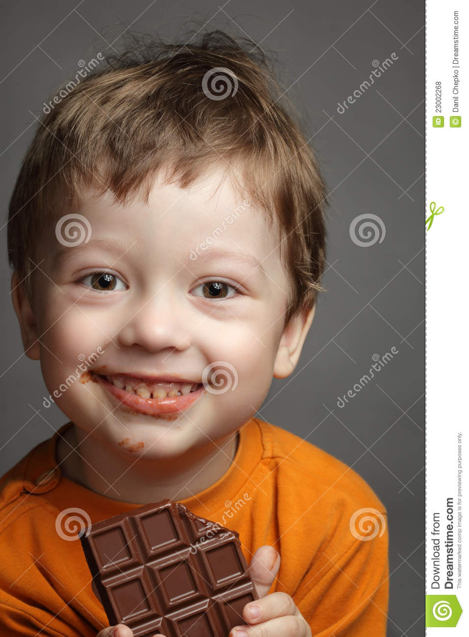 Boy With Chocolate Royalty Free Stock Photos Image 23002268
