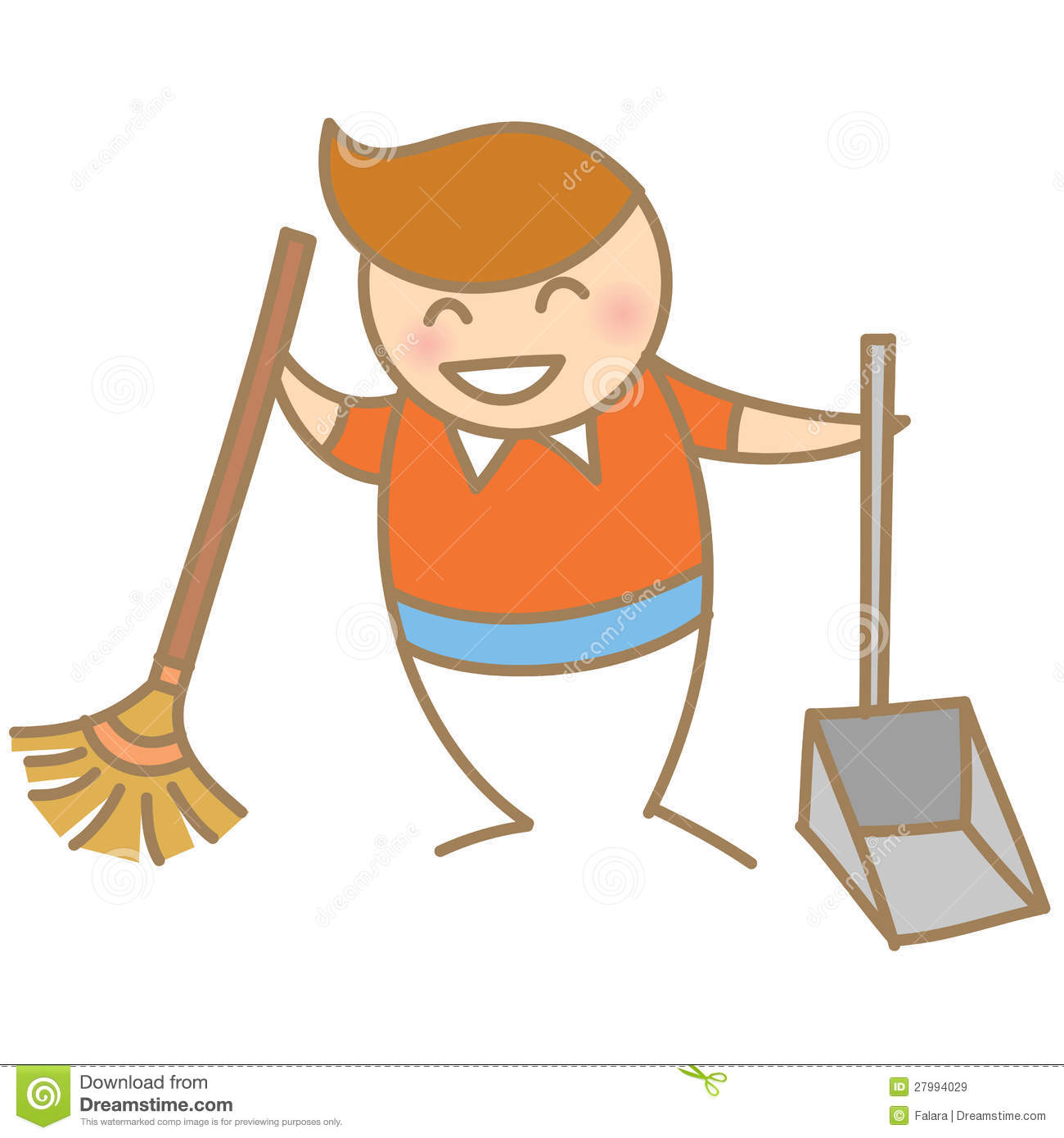 Boy Cleaning House Smiling Royalty Free Stock Images - Image: 27994029