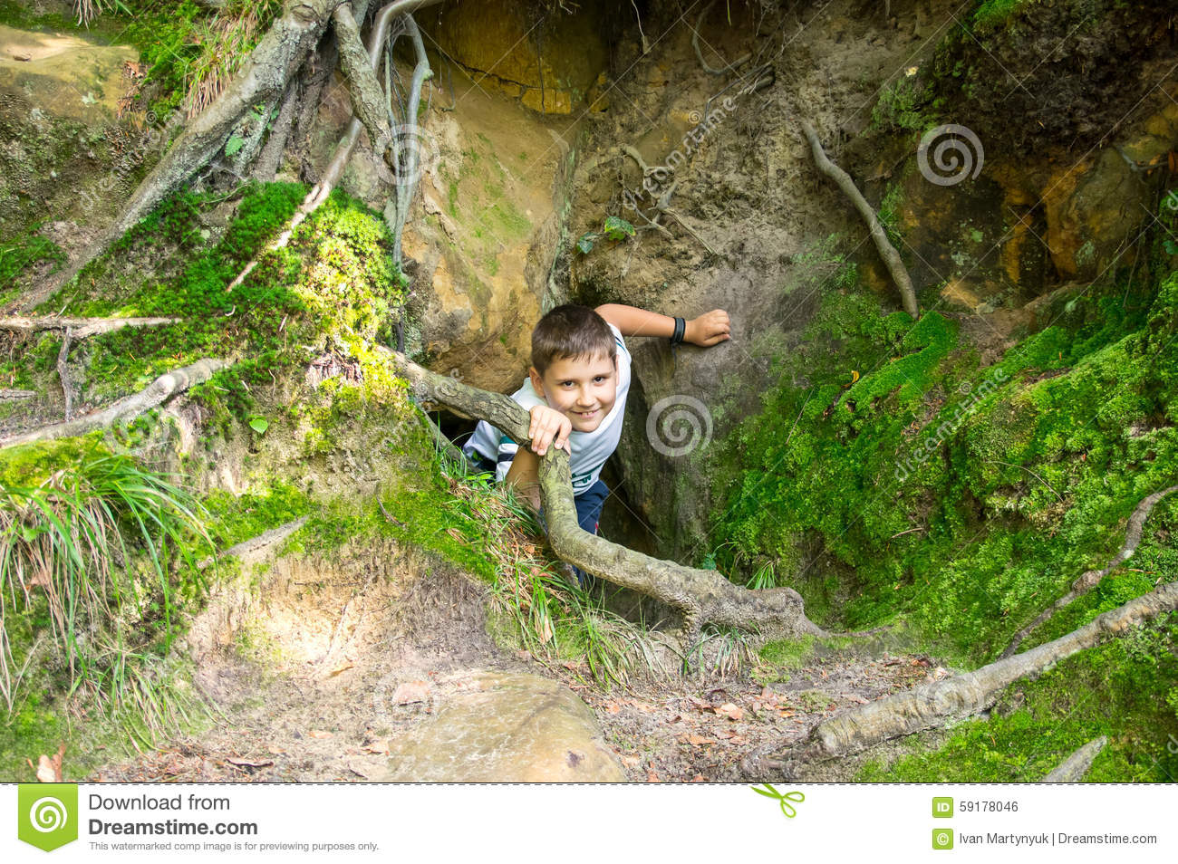 Boy climbs from catacombs