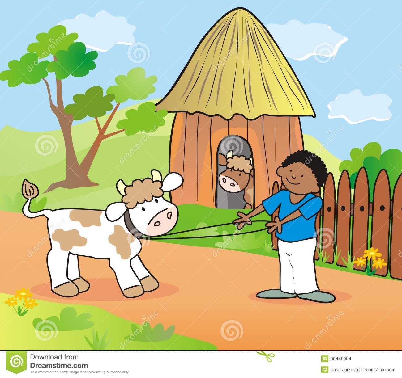boy and cow stock illustration image of happy  fence free farm animal clip art goat head free farm animal clipart for teachers