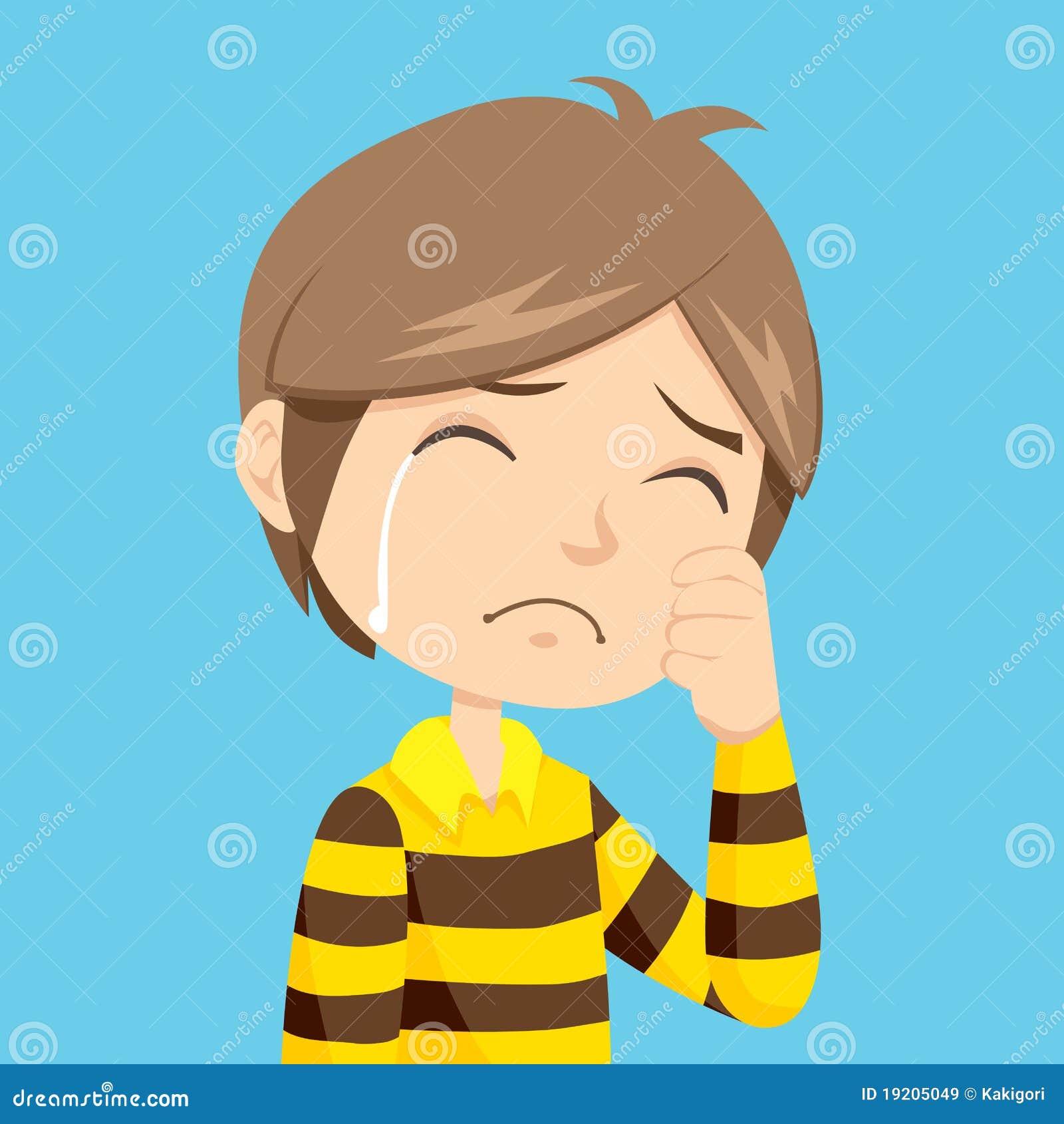 Sad Cartoon Boy Stock Photos Royalty Free