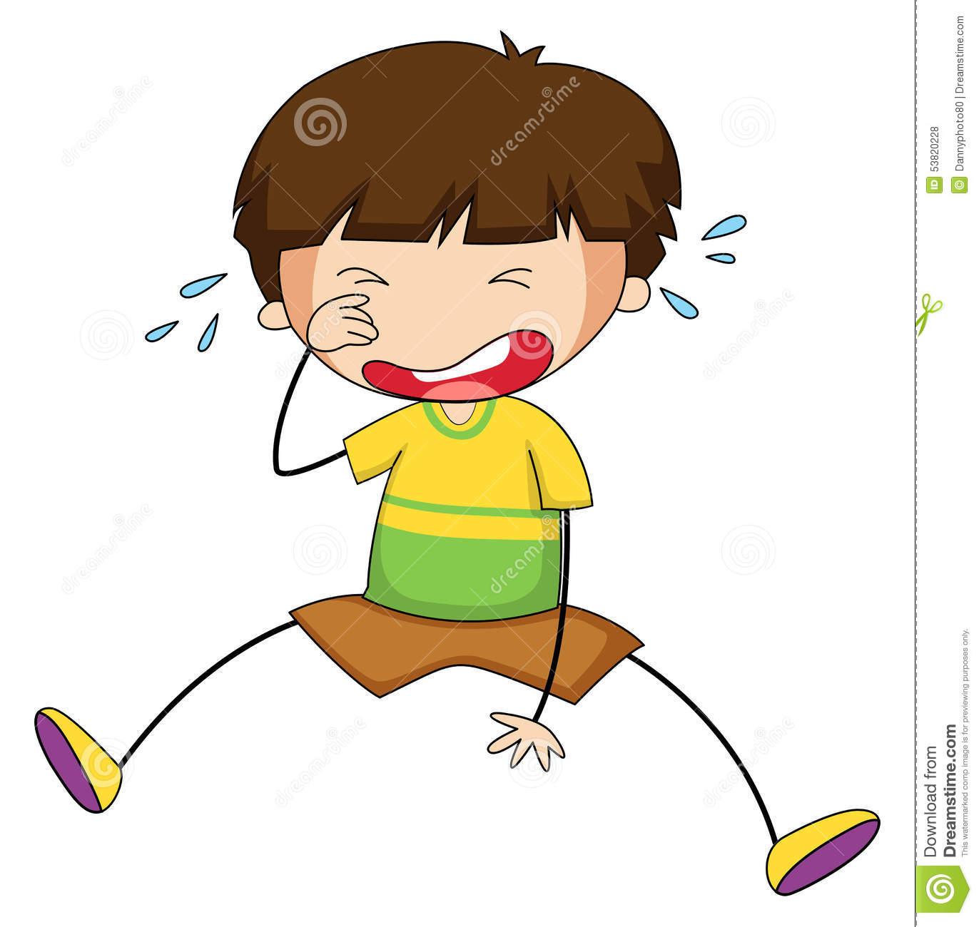 Boy Crying Stock Vector Image 53820228