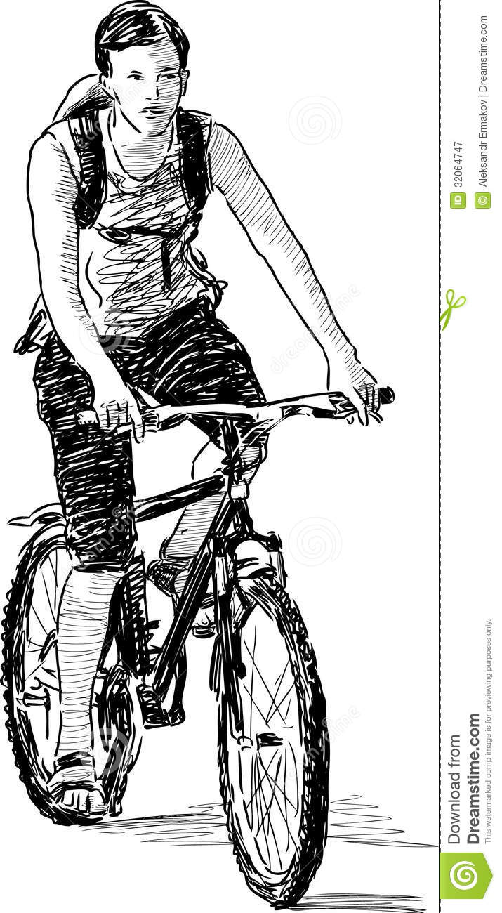 Boy On A Cycle Royalty Free Stock Photography Image