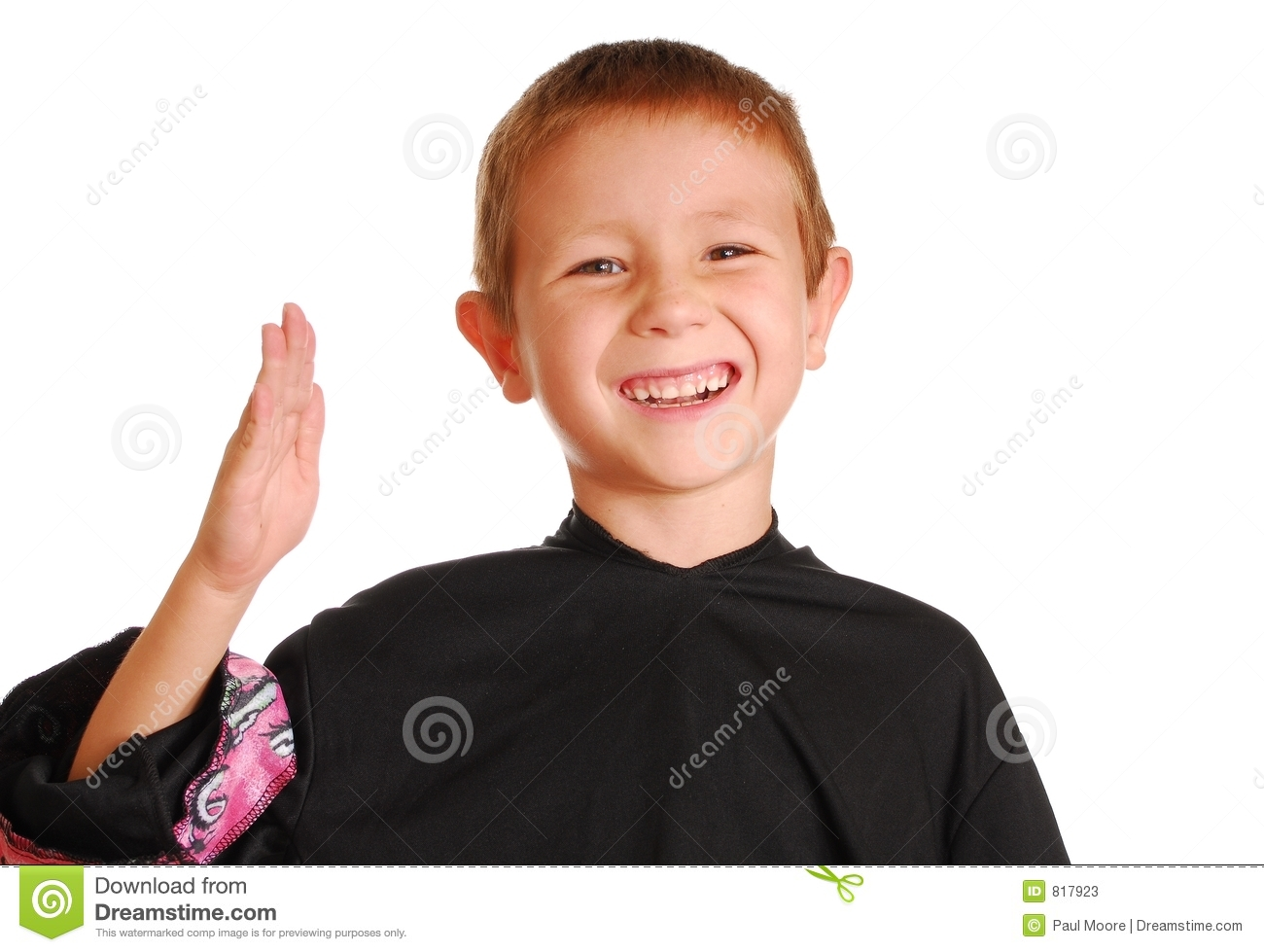 Boy Doing Karate Chop Stock Photos - Image: 817923