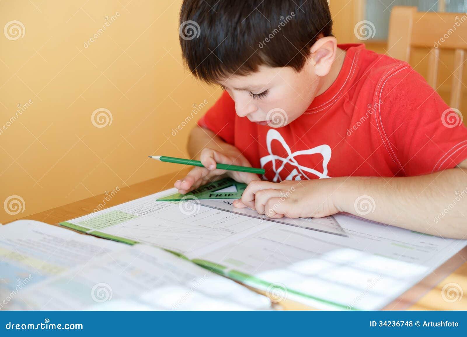 Boy runs away from homework