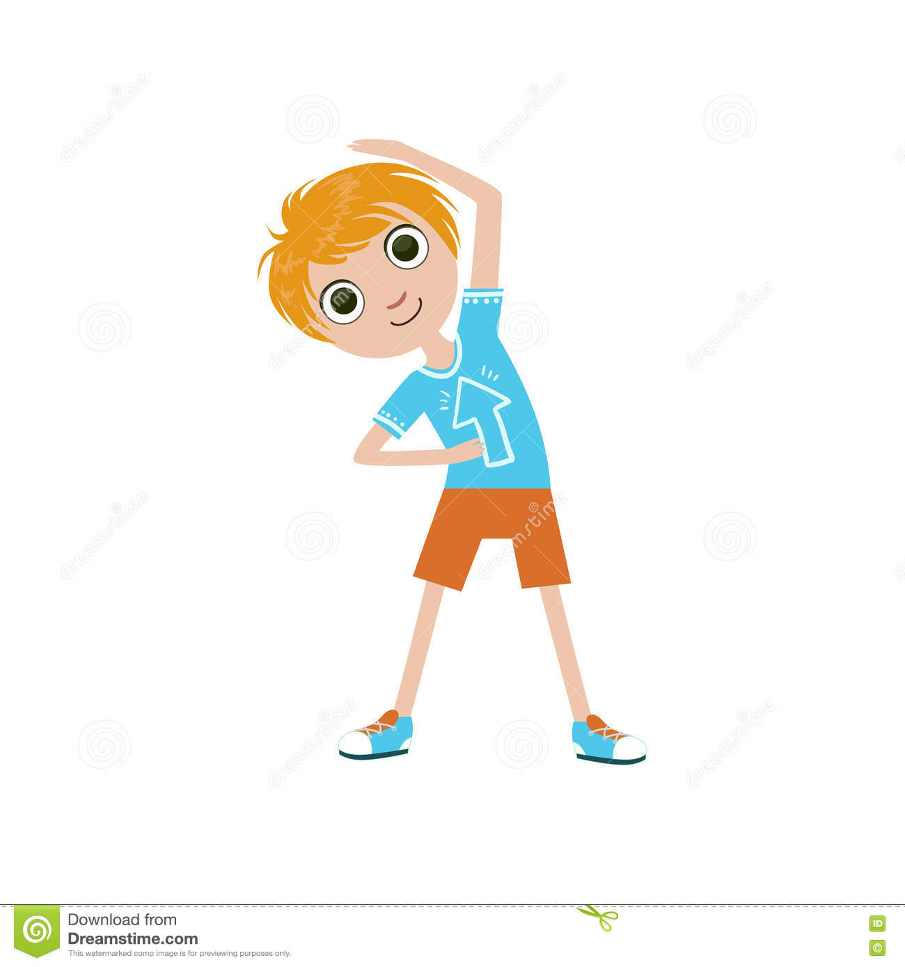 Boy Doing Stretching Exercise Stock Vector Illustration Of Illustration Exercise 72201237