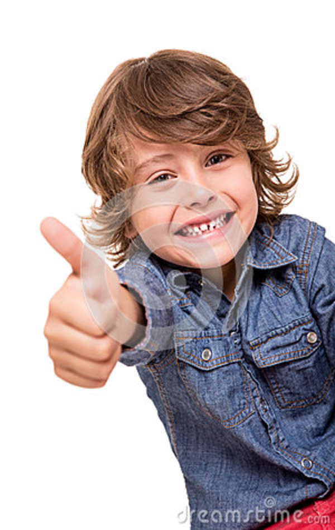 Boy doing thumbs up