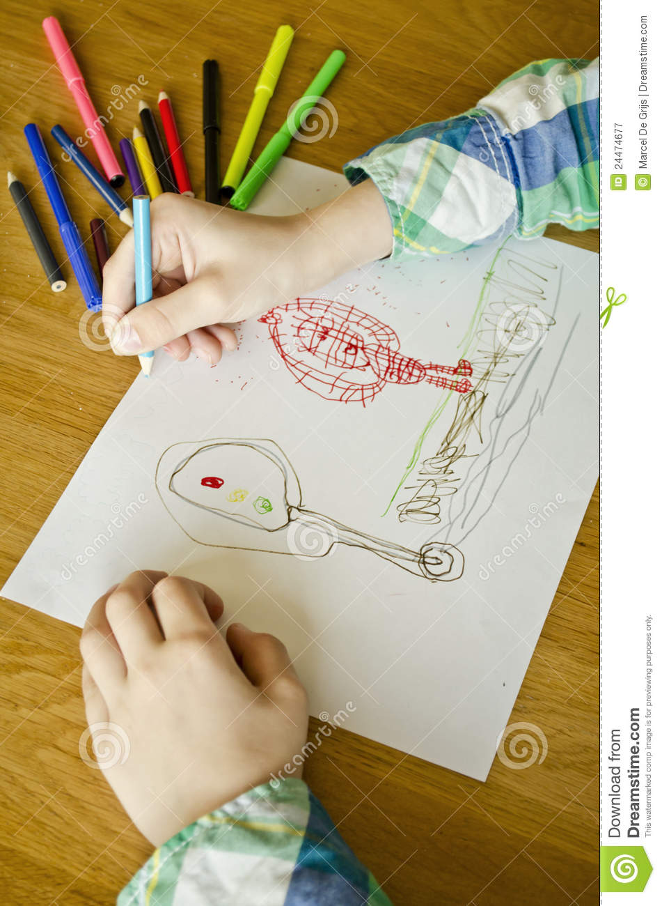 Boy Drawing Royalty Free Stock Photography - Image: 24474677