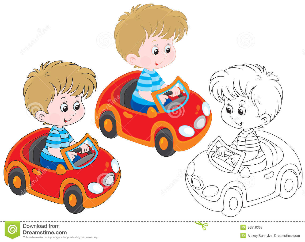 Little Boy Toys Clip Art : Boy driver royalty free stock photography image