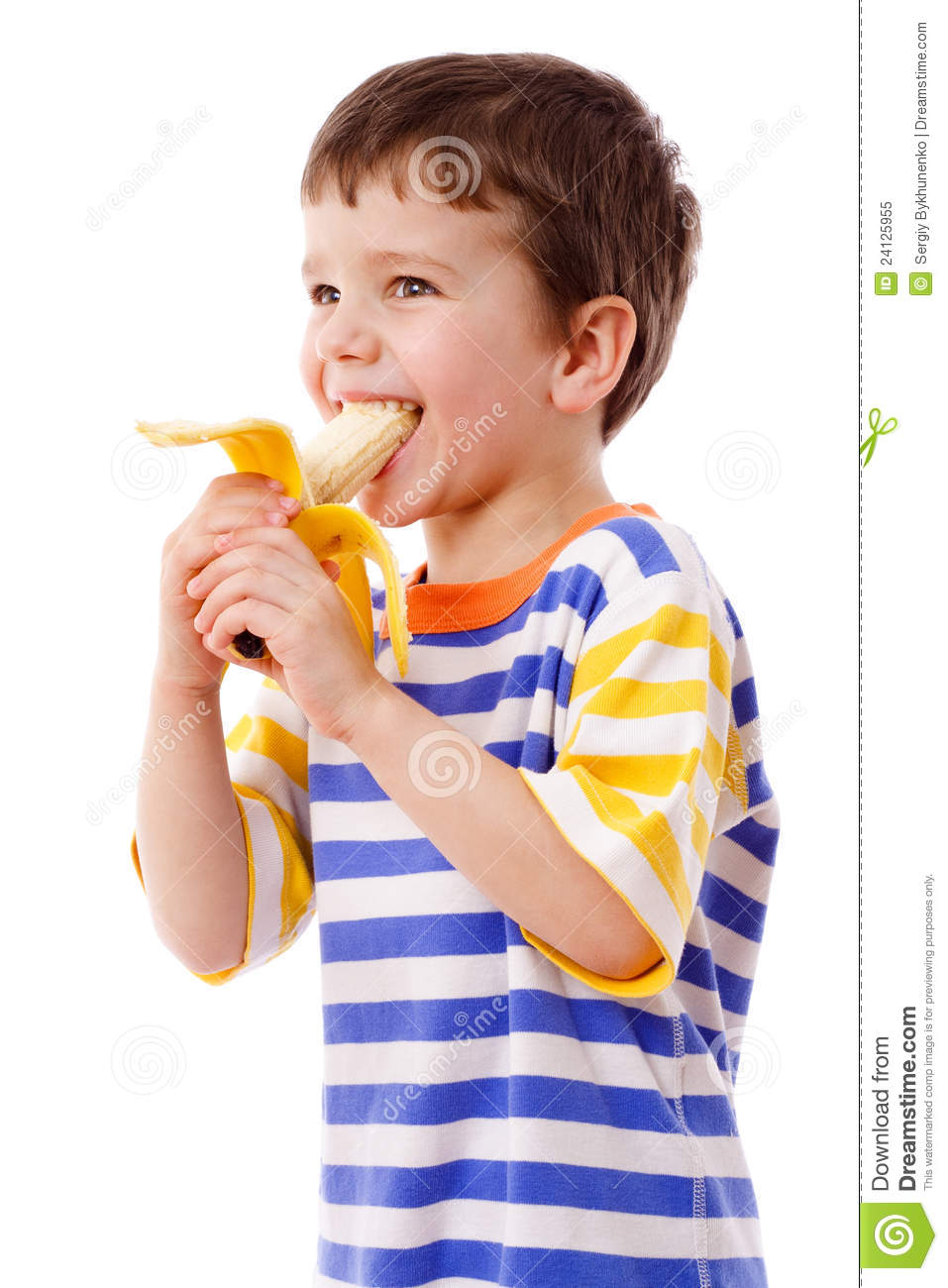 Boy Eating A Banana Royalty Free Stock Photo - Image: 24125955