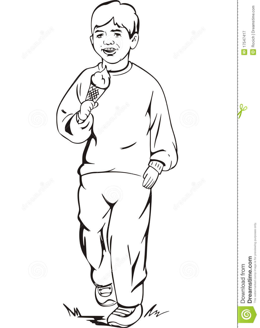 Boy Eating An Ice Cream Royalty Free Stock Photography - Image 17547417