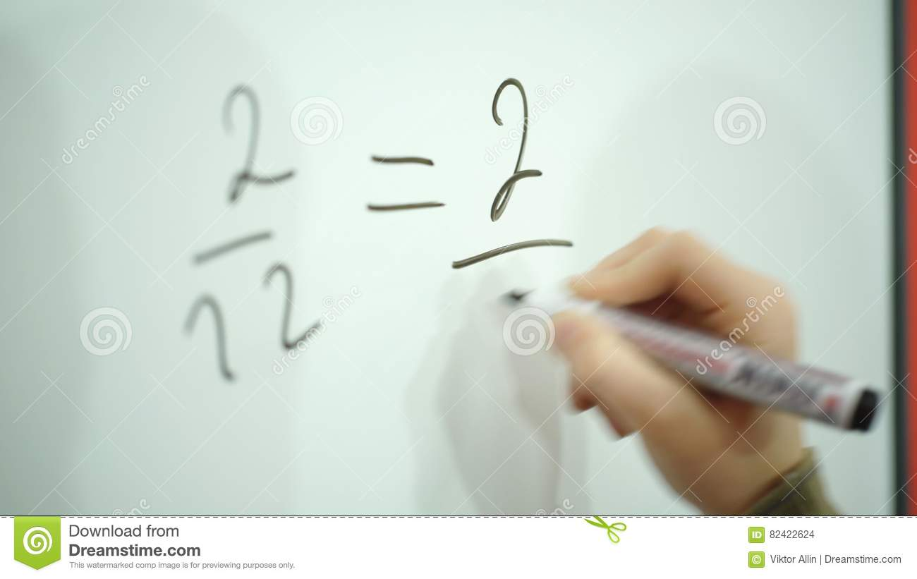 Boy Exercise Math On School Board Stock Footage - Video of learn ...