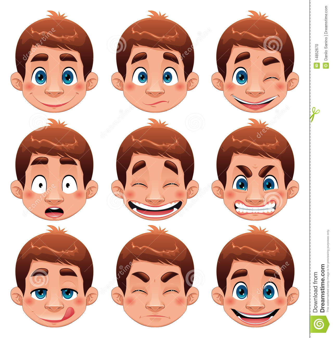 Boy Expressions Stock Photo Image 14852670