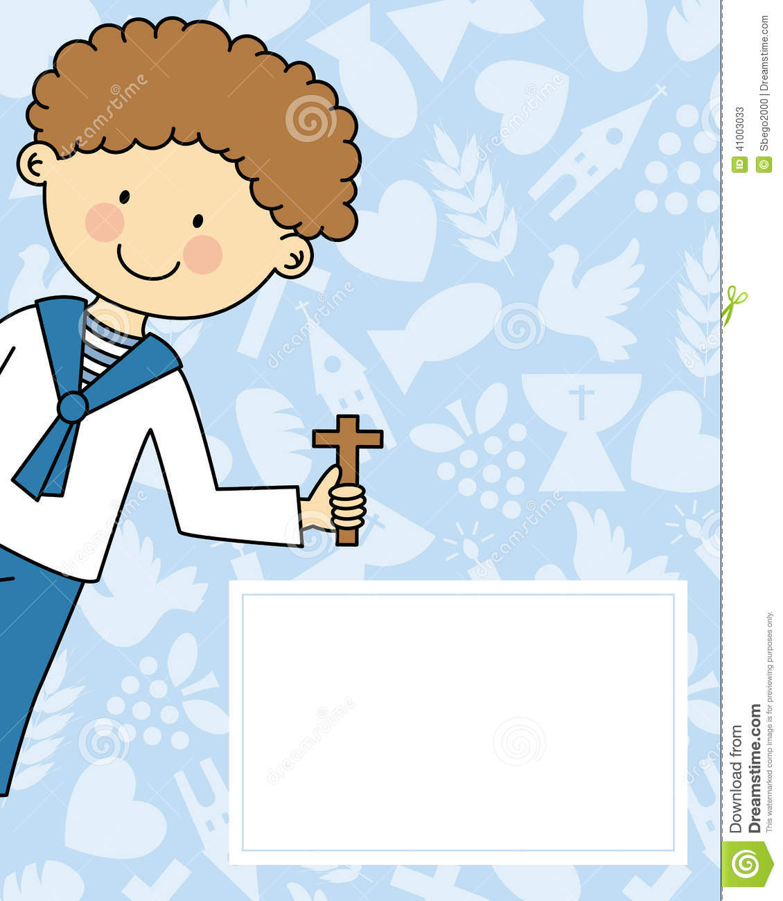 Boy First Communion Stock Vector - Image: 41003033