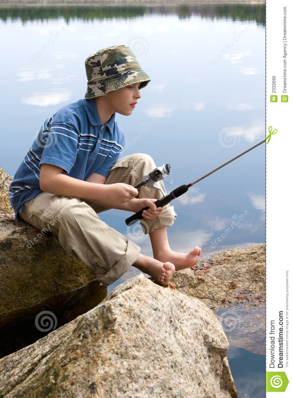 Boy fishing stock image image of waiting patience for Fishing times free