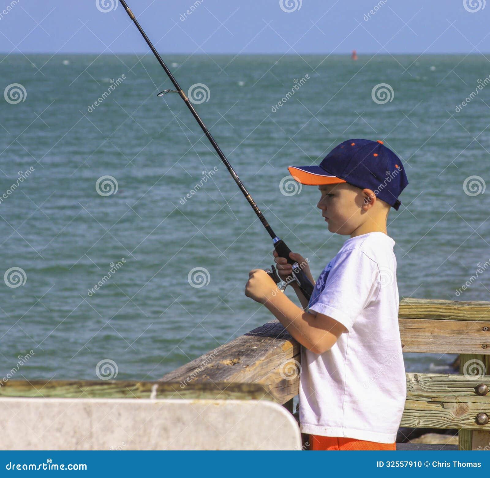 Boy fishing stock photo image 32557910 for Little kid fishing pole