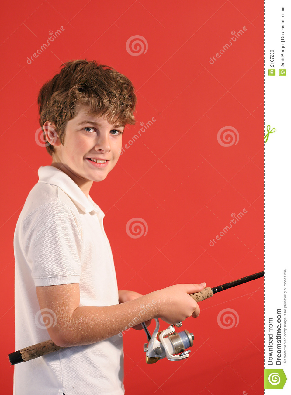 Boy with fishing pole