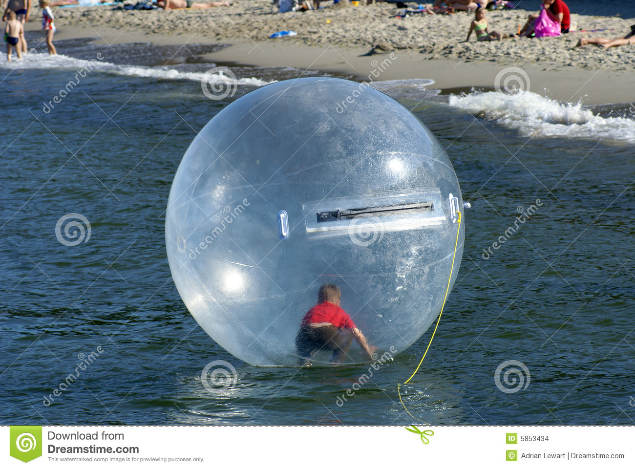 Boy In Floating Ball Stock Photo Image Of Globe Walk