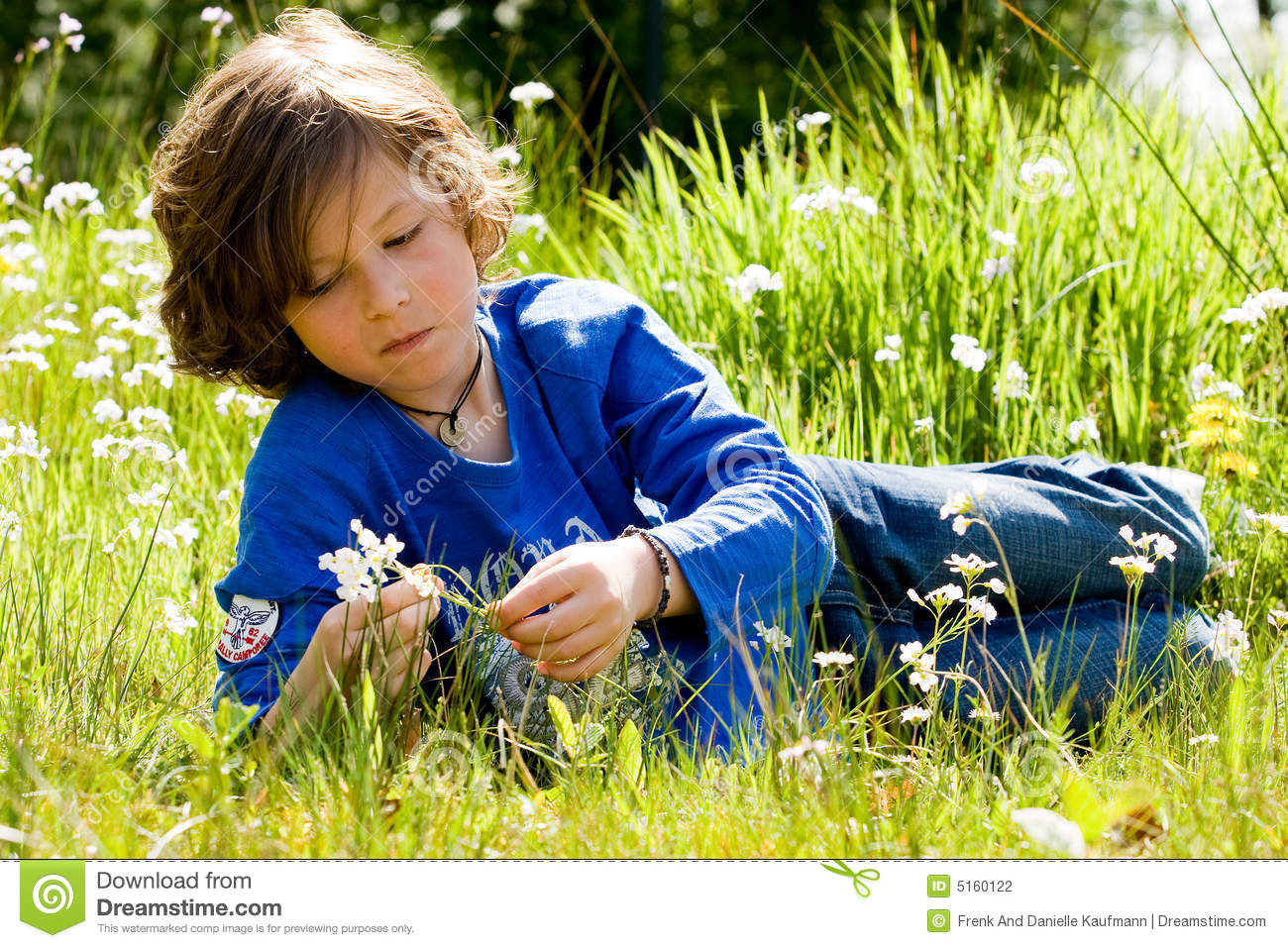 Boy and the flower