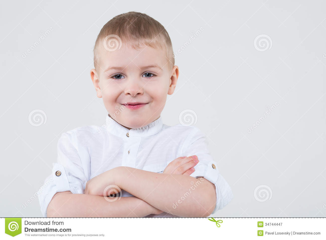 Download Boy Folded His Arms Across His Chest Stock Illustration - Illustration of beautiful, classy: 34744447