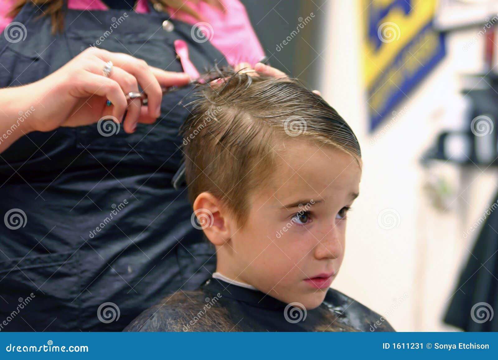 Hair Photos Boy Download: Boy Getting Haircut Stock Image. Image Of Comb, Haircut