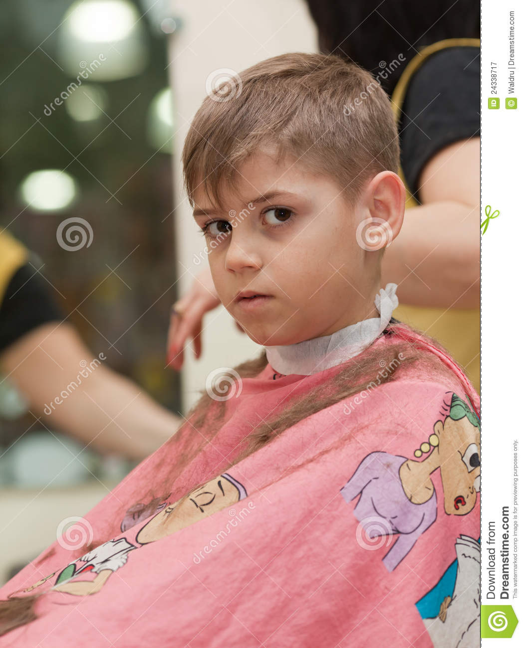 Boy Hair Images Download: Boy Getting A Haircut Stock Image. Image Of Trim, Person