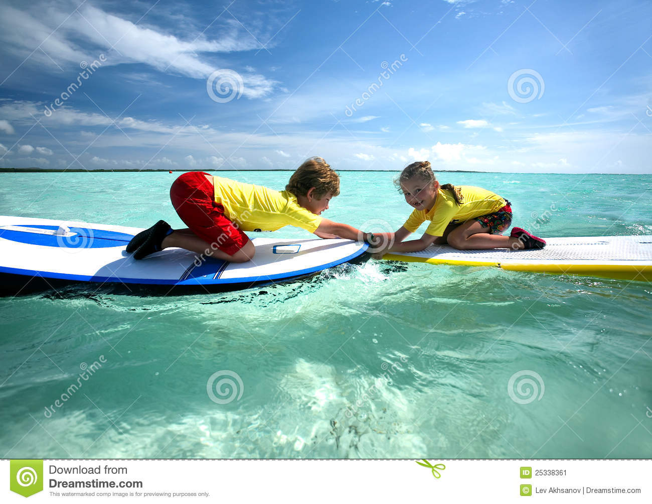 Download Boy and girl. stock image. Image of caribbean, active - 25338361