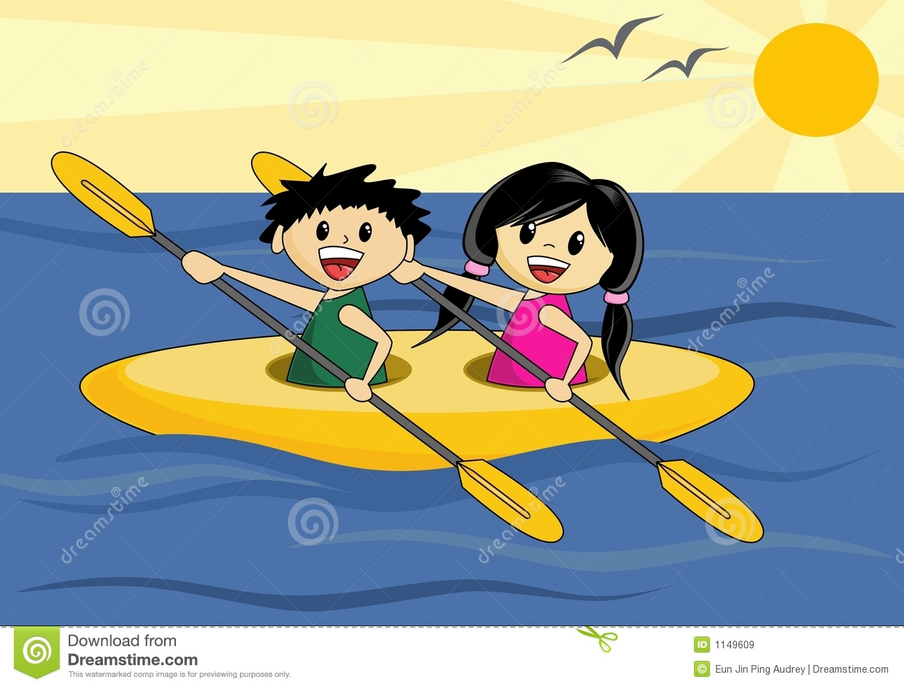 Boy And Girl In Canoe Royalty Free Stock Images - Image: 1149609