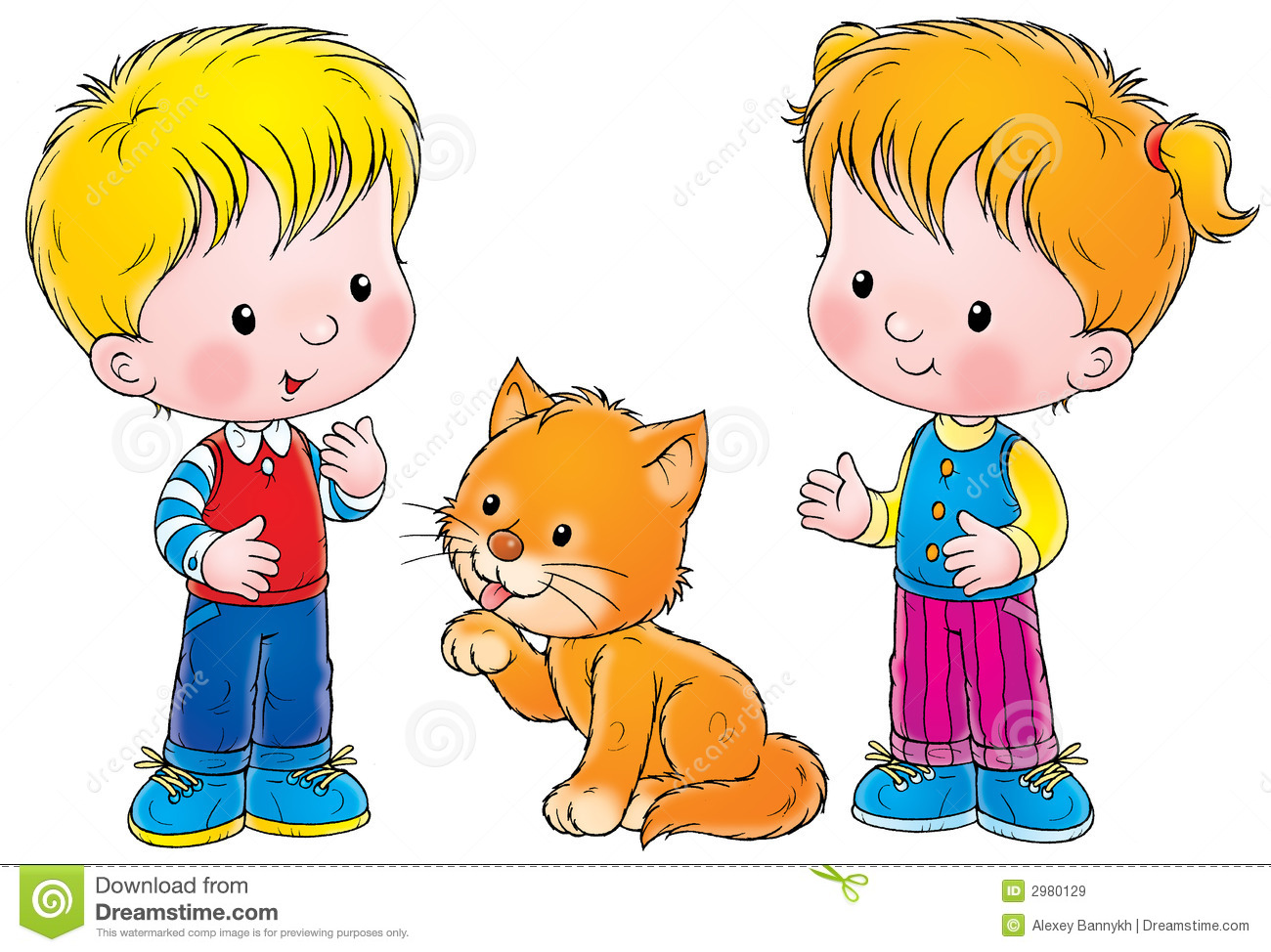 boy and clip girl Image art of