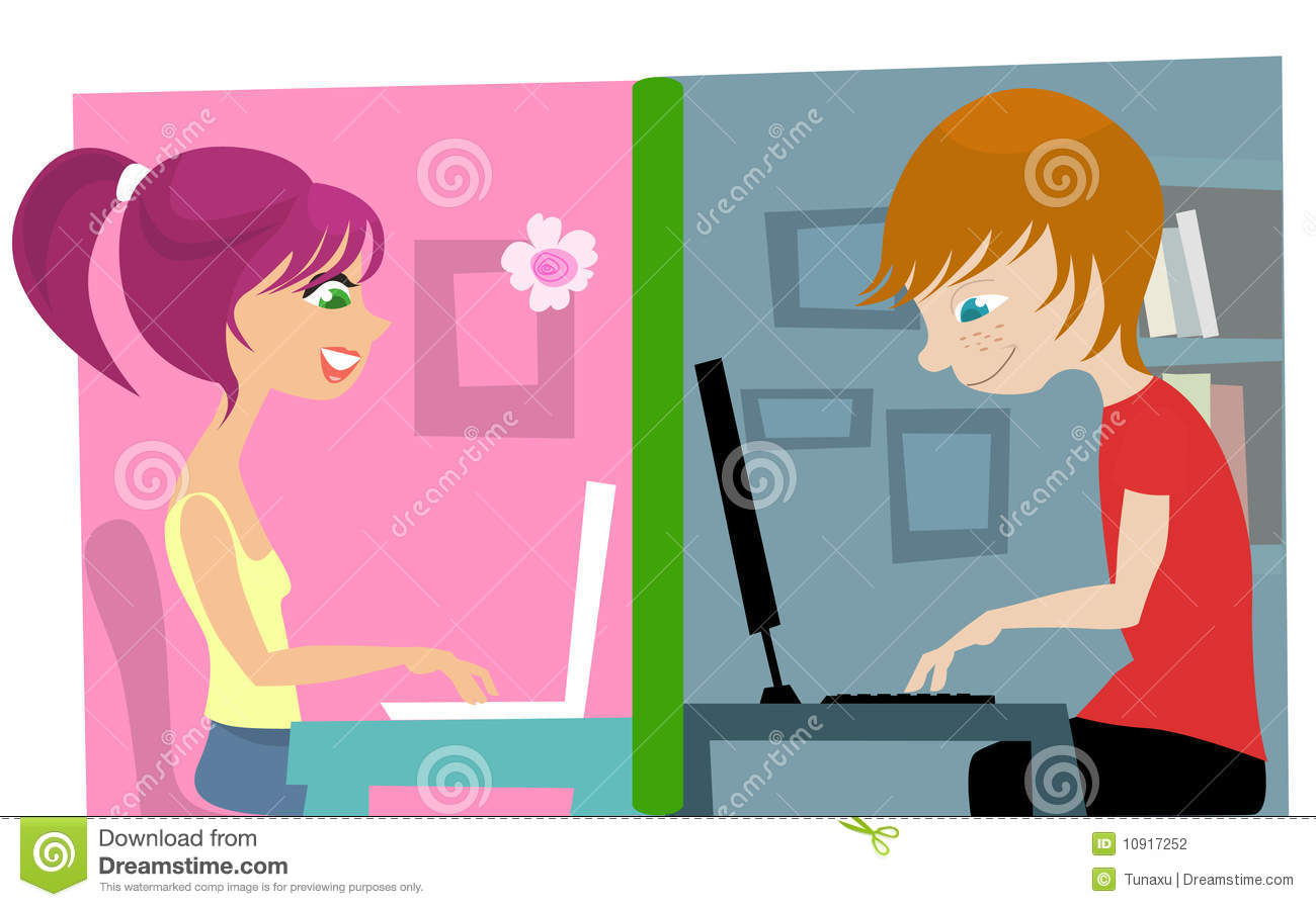 girl and boy chat