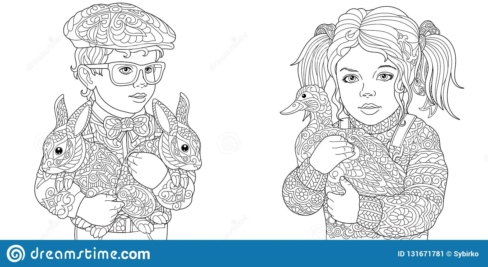 Boy And Girl Coloring Pages Coloring Book For Adults Colouring