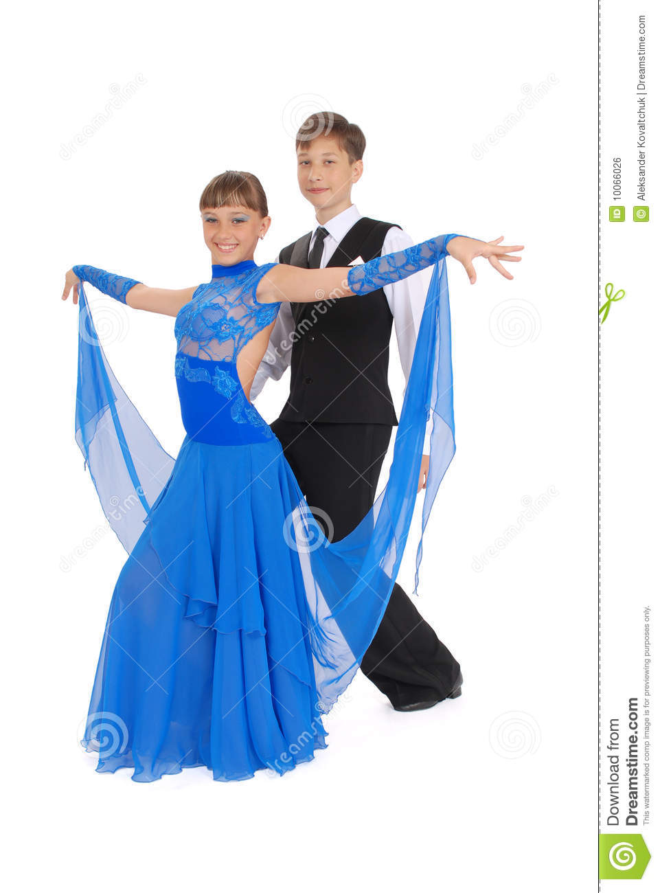 Boy And Girl Dancing Ballroom Dance Royalty Free Stock Image - Image ...