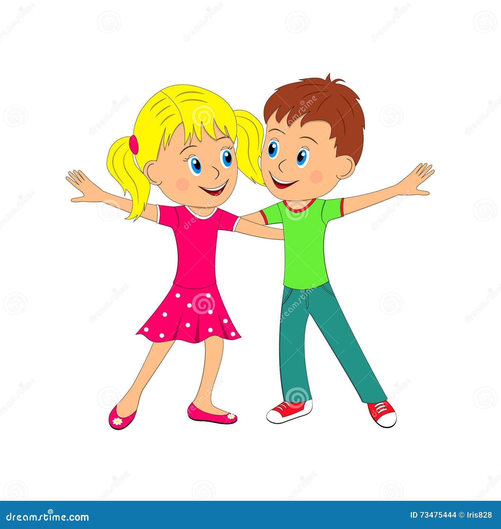 Boy and girl dancing