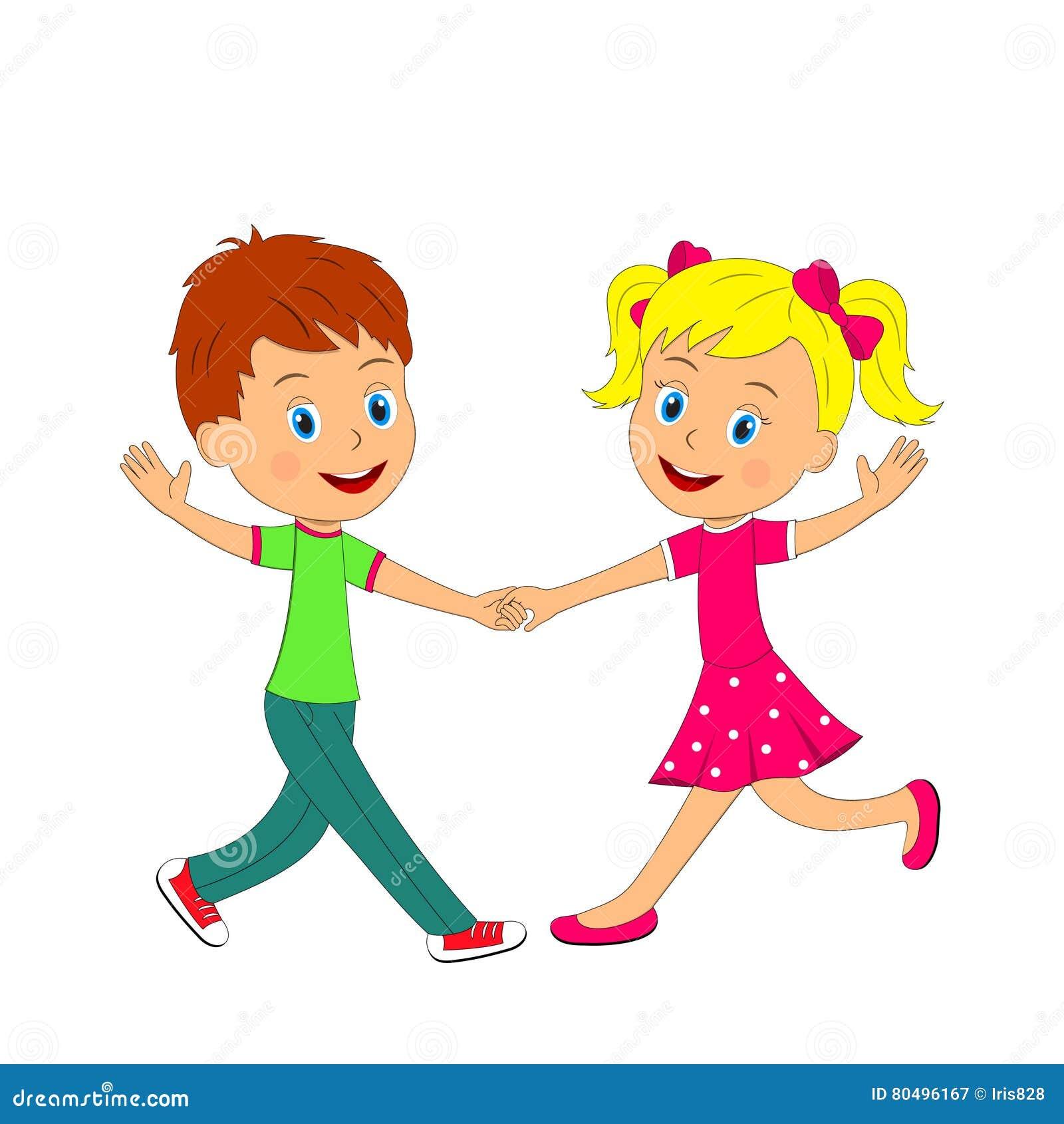 Kids Valentines Dance Clip Art