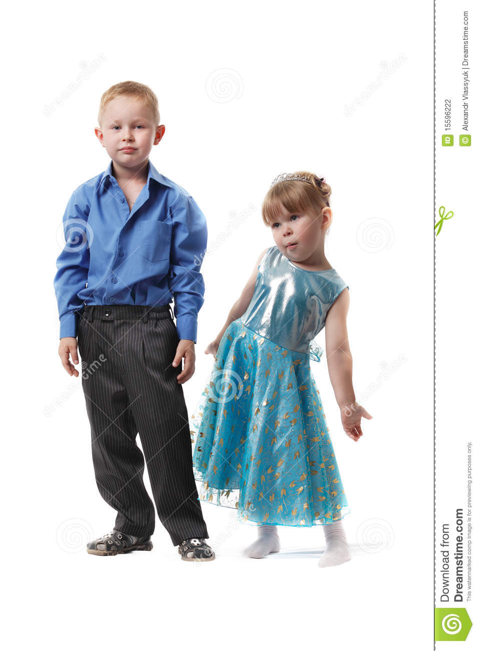 Boy And Girl In Formal Dress Stock Photo - Image of shirt, stand
