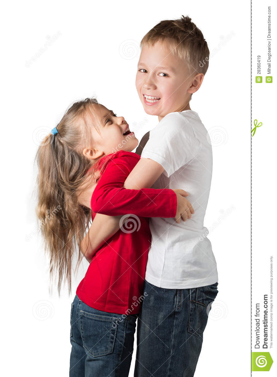 Boy And Girl Bedroom Decor: Boy And Girl Hugging Royalty Free Stock Images