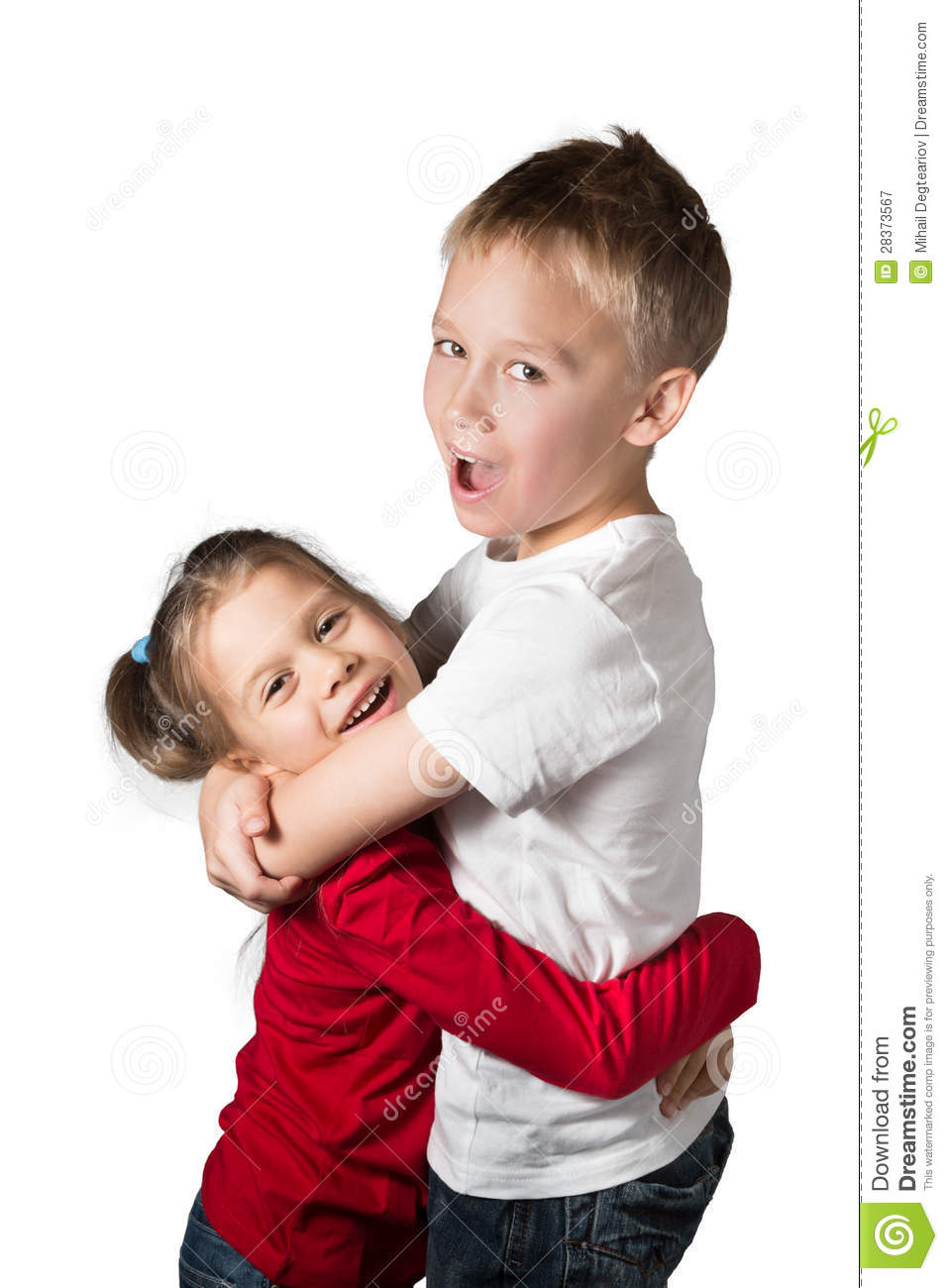 Boy And Girl Bedroom Decor: Boy And Girl Hugging Stock Image. Image Of Casual, People