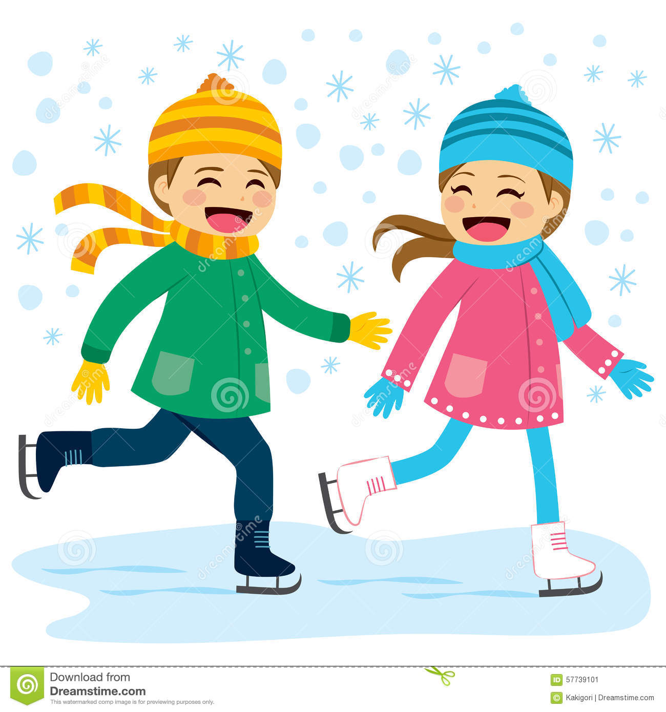 boy and girl ice skating stock vector illustration of figure skating clip art black and white figure skating clip art black and white
