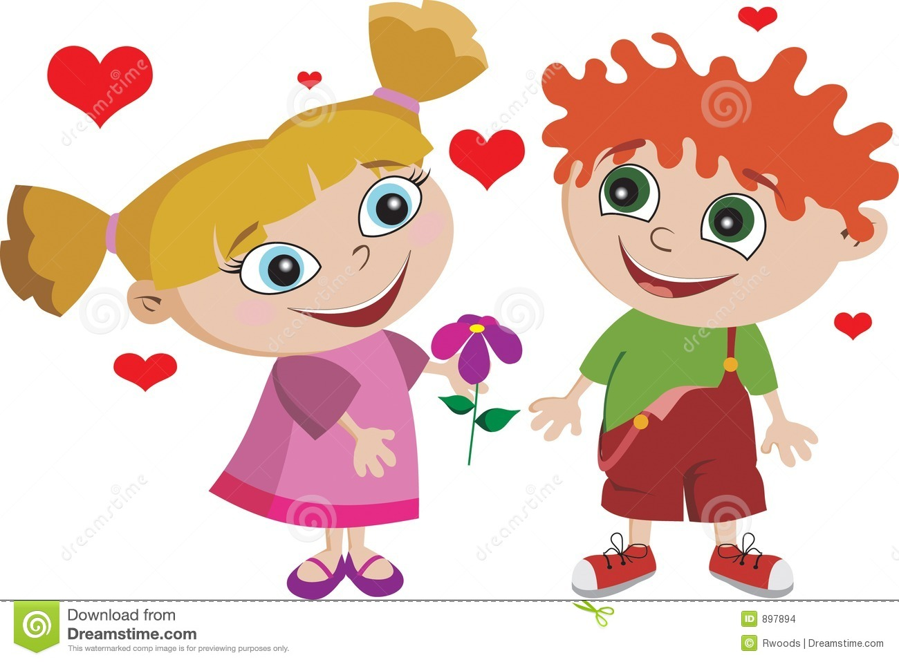Boy Girl Kids Kid In Love Adorable Stock Images - Image: 897894
