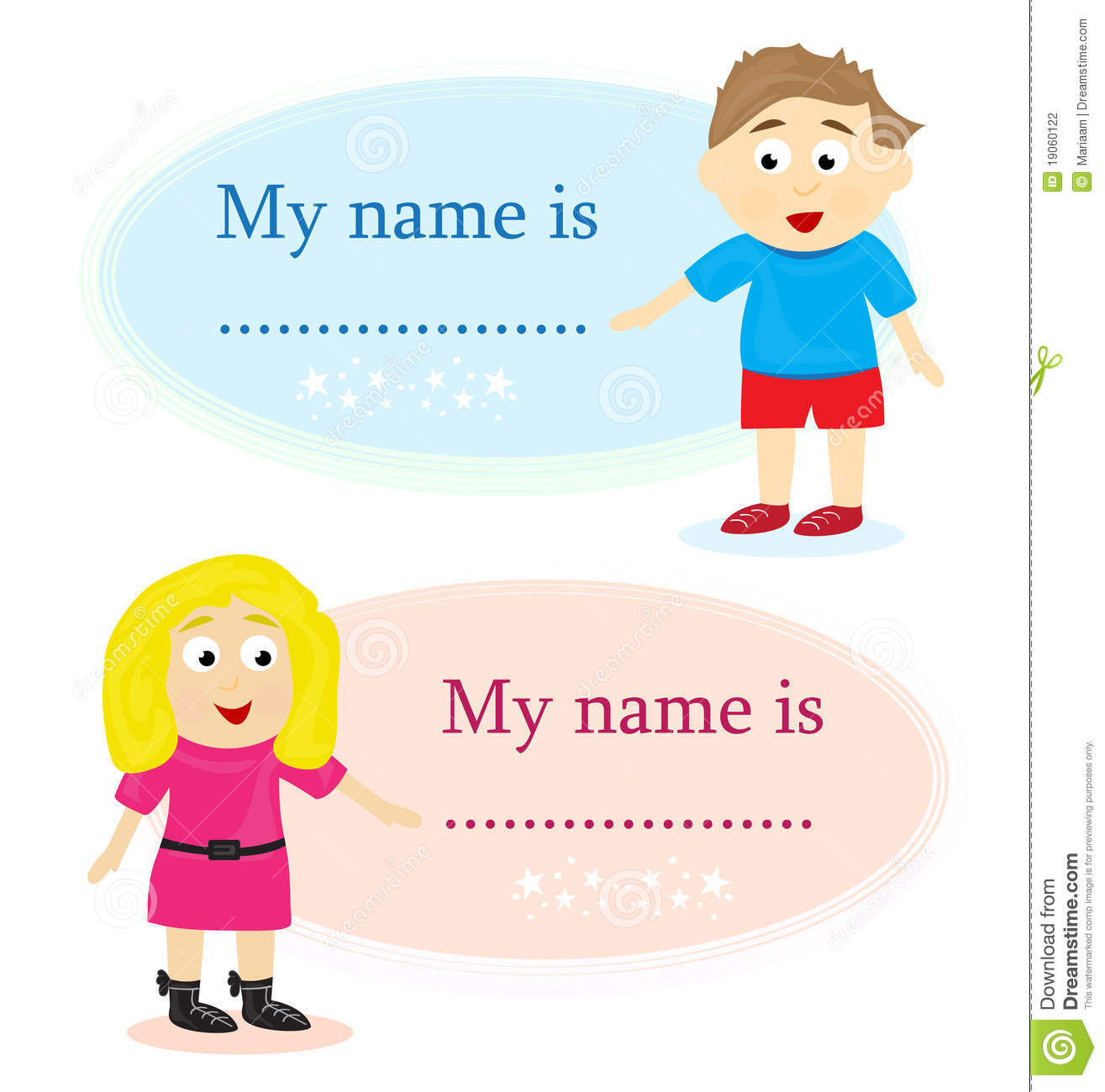 how to make name tags with pictures