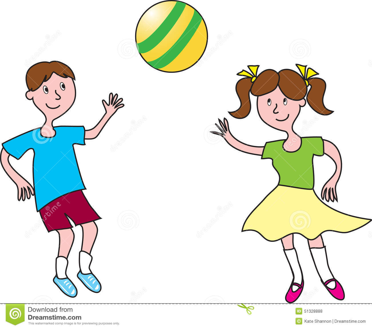 Boy And Girl Pl... Kids Exercise Clip Art Black And White