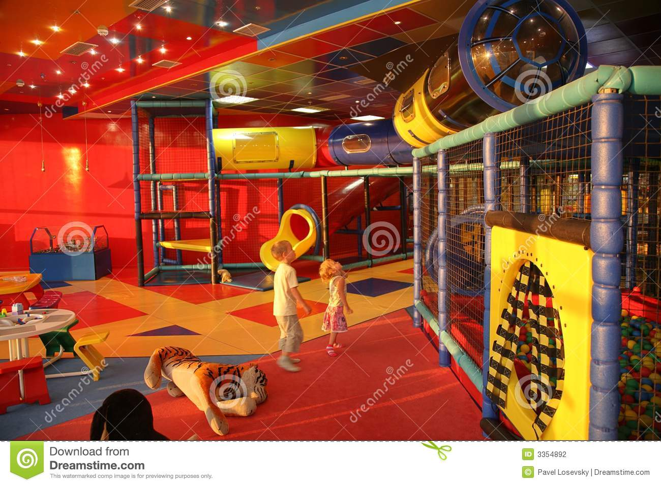 boy and girl in playroom stock photo image of family