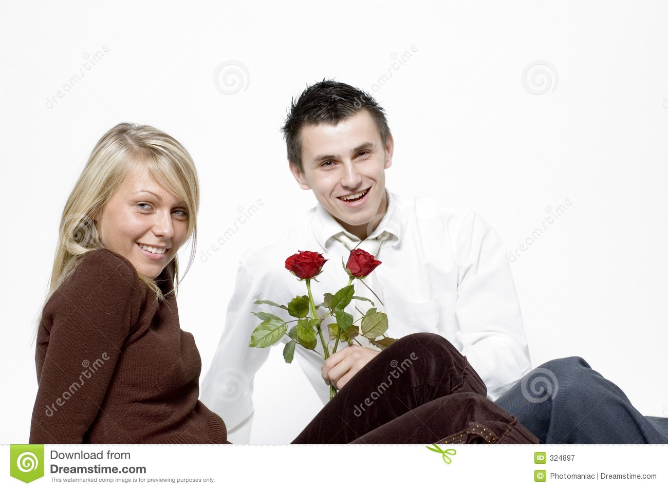 Boy and girl / roses
