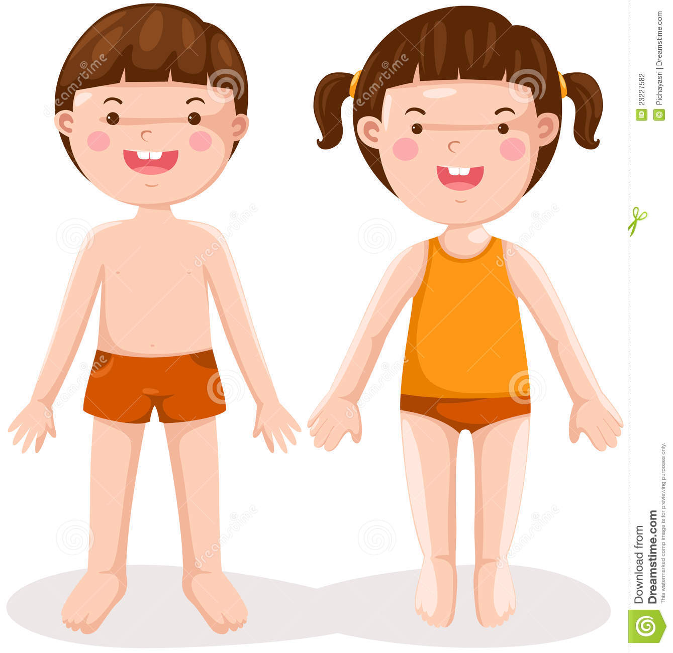 Boy And Girl Standing Stock Photography Image 23227582