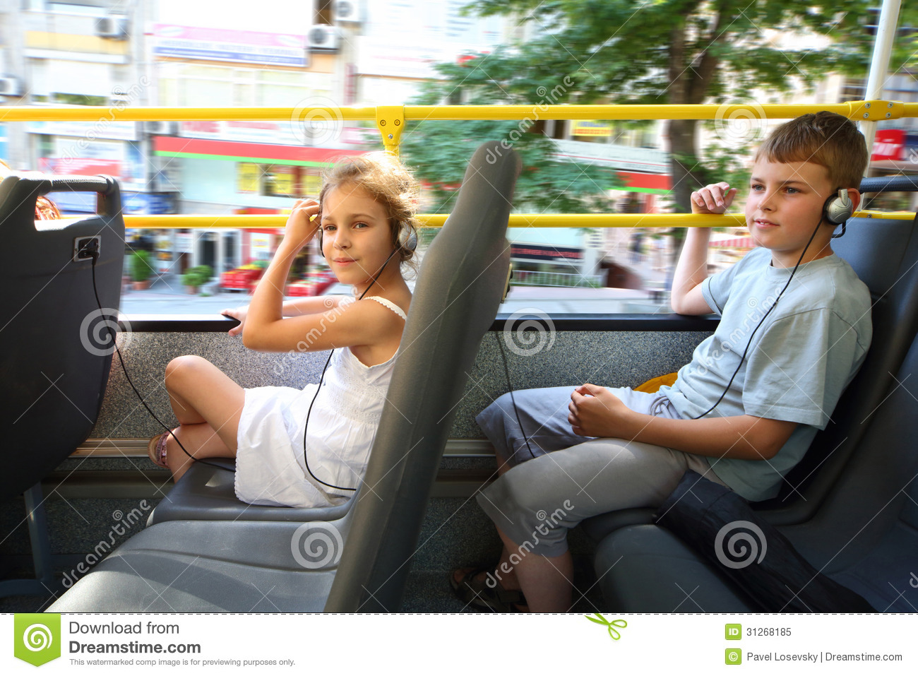 Friends Floor Plan A Boy And A Girl Traveling In A Tour Bus Royalty Free