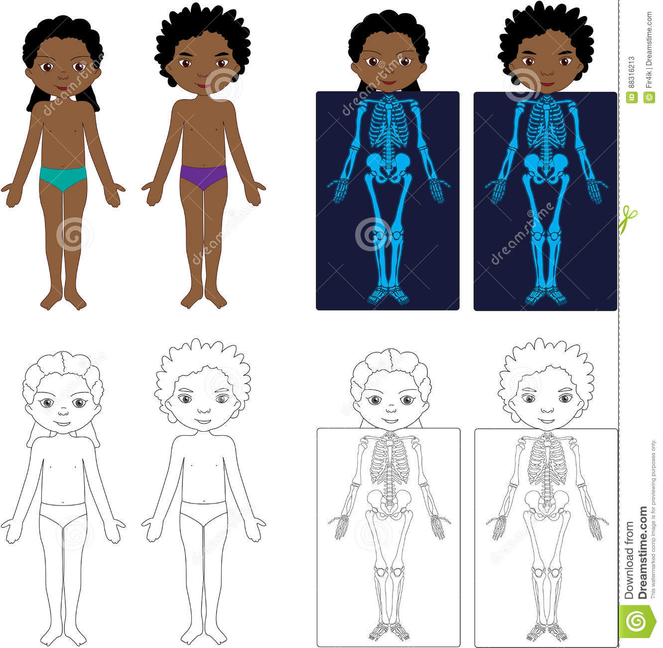 Baby Girl Body Parts Stock Illustrations – 34 Baby Girl Body Parts ...