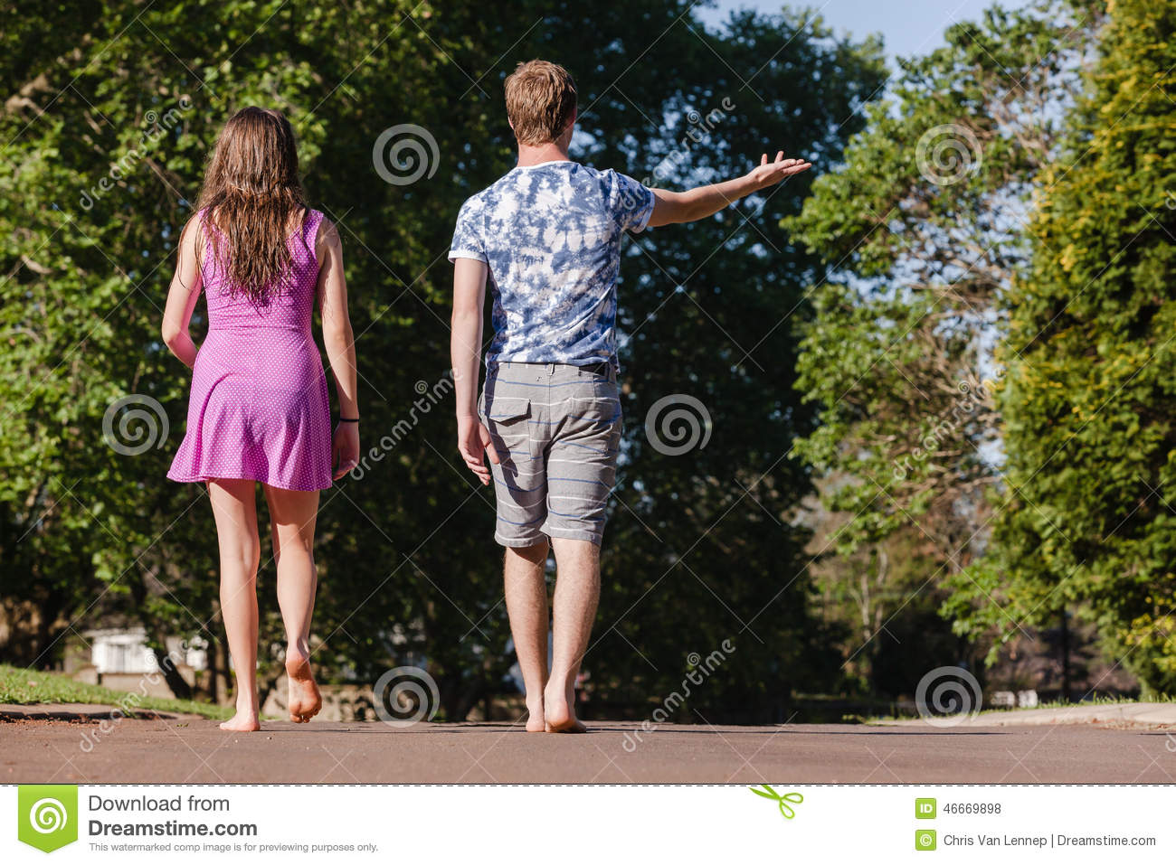 Boy Walking Away From Girl