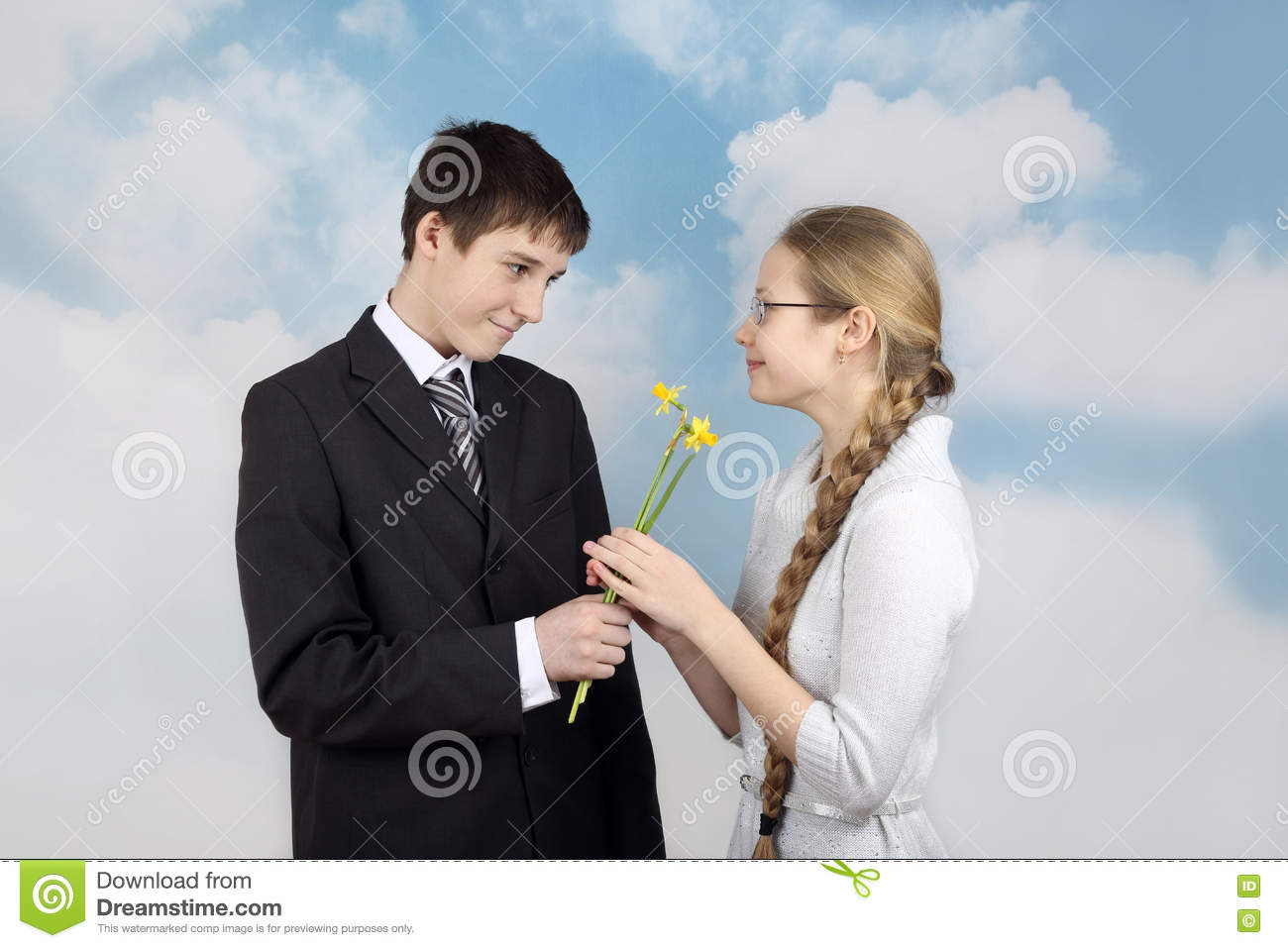 Boy gives flowers to girlfriend stock image image of pretty download boy gives flowers to girlfriend stock image image of pretty attractive 78757765 mightylinksfo