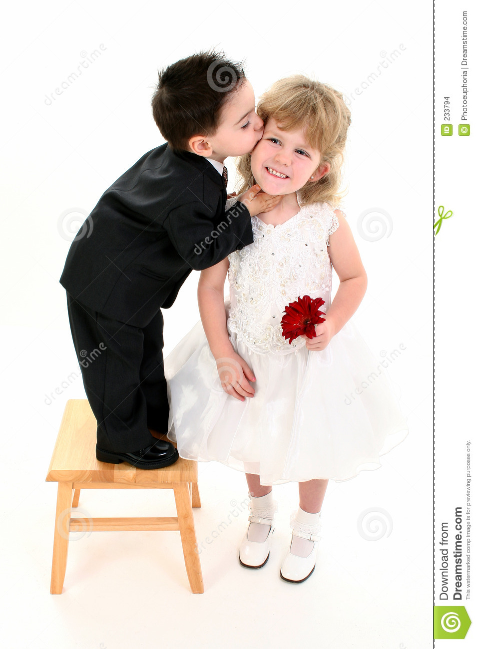 Boy Giving Pretty Girl A Kiss Stock Images Image 233794